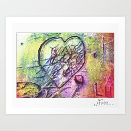 The Love Conflict Art Print