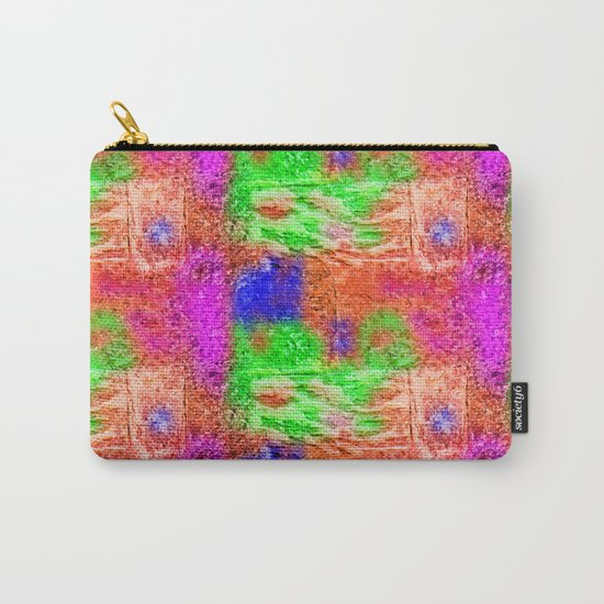 Colourful Abstract Texture Carry-All Pouch
