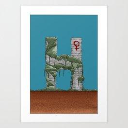 "H | ""LETTERS"" Art Print"