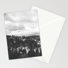 Mountains and Desert view Stationery Cards