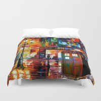 thorin Duvet Covers featuring Tardis Painting by Thorin