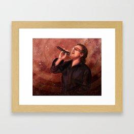 Bono Vox Framed Art Print