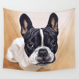 French Bulldog Gouache Artwork Wall Tapestry