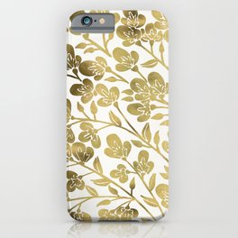 Cherry Blossoms – Gold Palette iPhone Case
