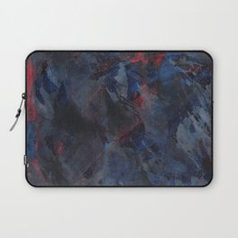 Black and White Ink on Blue and Red Background Laptop Sleeve