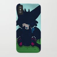 toothless iPhone & iPod Cases featuring Toothless by DaemonArtistsu