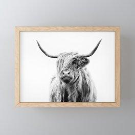 portrait of a highland cow (horizontal) Framed Mini Art Print