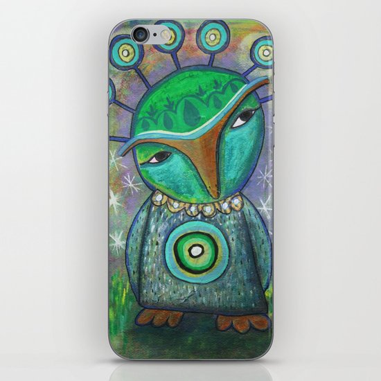 Alien Owl iPhone Skin