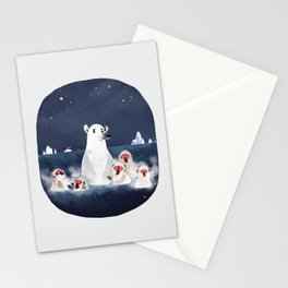 Global warming polar bear Stationery Cards