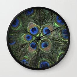Peacock Flower Wall Clock