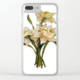 Double Narcissi Bouquet Vector Clear iPhone Case