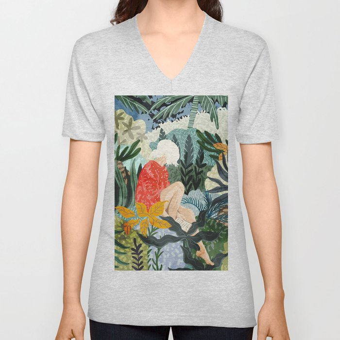 The Distracted Reader Unisex V-Neck