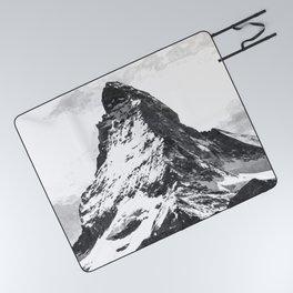 Black and White Mountain Picnic Blanket