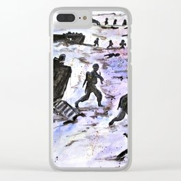 Stepping In Harms Way Clear iPhone Case