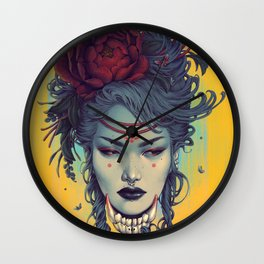 Fox Witch 2 Wall Clock