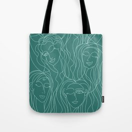 Green Ladies Tote Bag