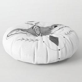Metaphys Moth - Gray Floor Pillow