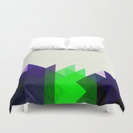 Green Peaks Duvet Cover