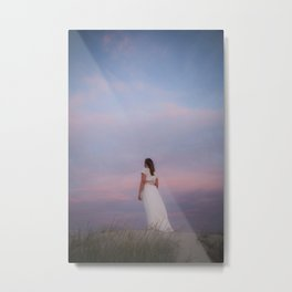 Sunset in the dunes Metal Print