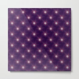 Color Explosion in Purple and Blue tiled Metal Print