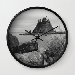 Evening At La Push Beach Wall Clock
