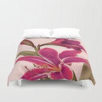 vintage floral Duvet Covers featuring Vintage Floral by 83 Oranges®
