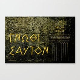 """KNOW THYSELF"" Canvas Print"