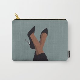 Black woman legs art Carry-All Pouch