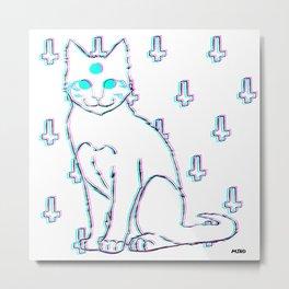 Ghost Cat Metal Print