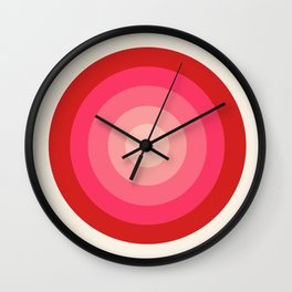 Keepin' on - 70's style retro vibes throwback minimal 1970s art decor gifts Wall Clock