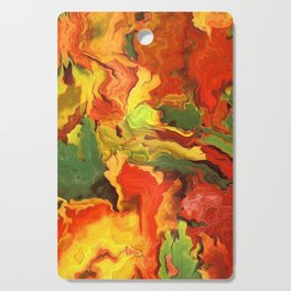 abstract fall leaves Cutting Board