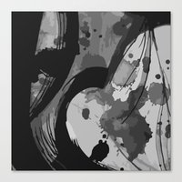 reassurance Canvas Prints featuring Ink III by Magdalena Hristova