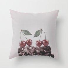 Cherry Mugshot Throw Pillow