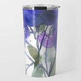 Bluest Blue Bloom Travel Mug