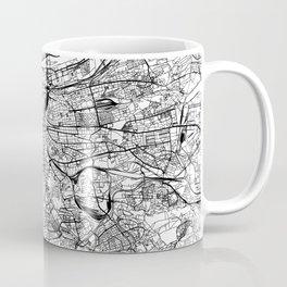 Prague White Map Coffee Mug