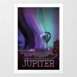 NASA Retro Space Travel Poster #7 Juniper Art Print