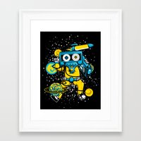 space jam Framed Art Prints featuring Space Jam Beats by playhouse