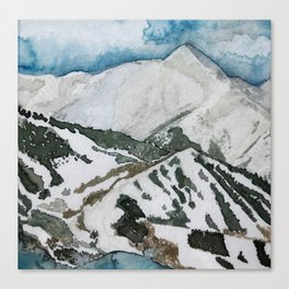 Snowmass Ski Area Watercolor Canvas Print