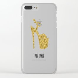Gold dreams Clear iPhone Case
