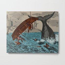 Whalers  Vintage Ocean Art Metal Print