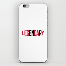 Leg Day Gym Quote iPhone Skin