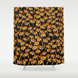 Infernal bears party Shower Curtain