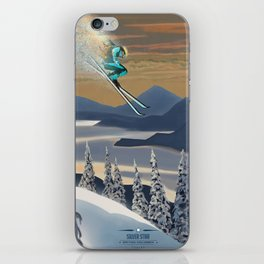 Ski Silver Star iPhone Skin