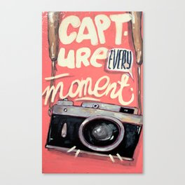 Capture every moment Canvas Print
