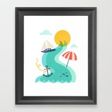 Surf and Sand Framed Art Print