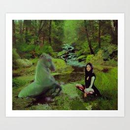 Tara and the Each Uisge Art Print