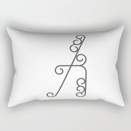"Letter ""A"" in beautiful design Fashion Modern Style Rectangular Pillow"