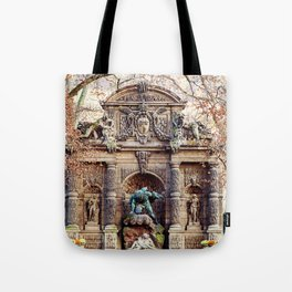 Medici Fountain in Autumn Tote Bag