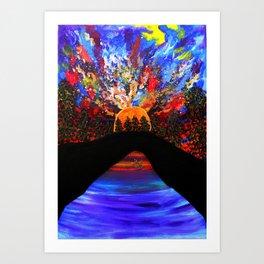 On my way to wonderland Art Print