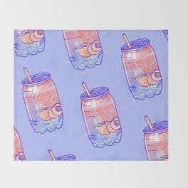 Peach Bubbles Throw Blanket